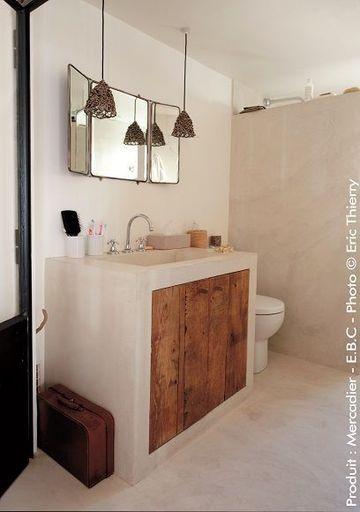 Romantische badkamer - Beton Cire