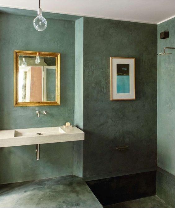 Gekleurd beton cire