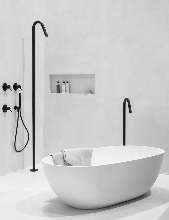 Zwart-wit stijl badkamer