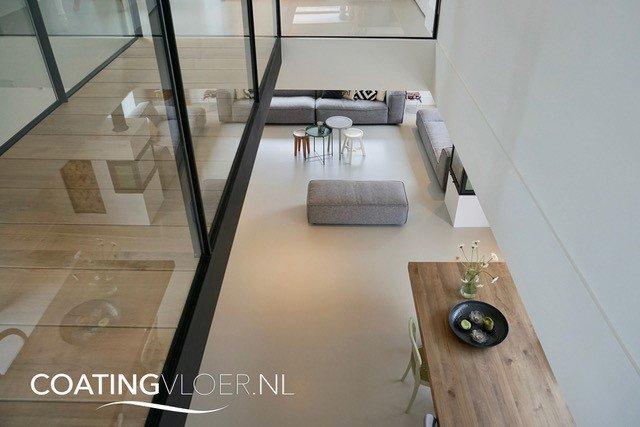Gietvloer in een woning