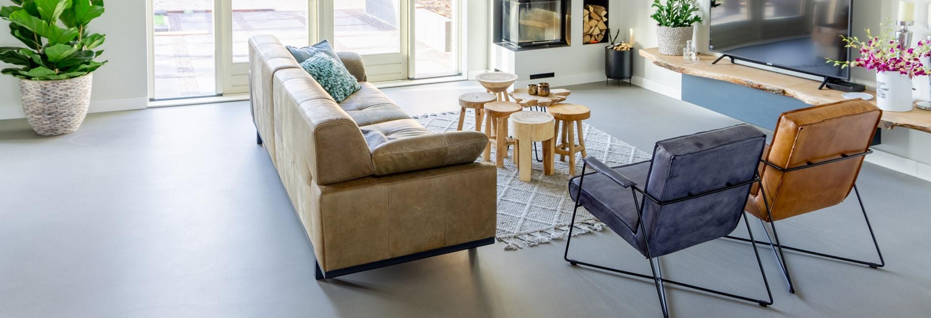 Design betonvloer in een woning