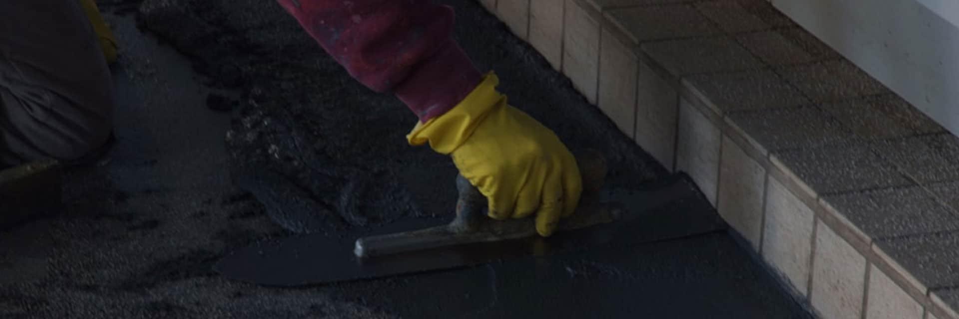 Voorbereiding industriële vloer