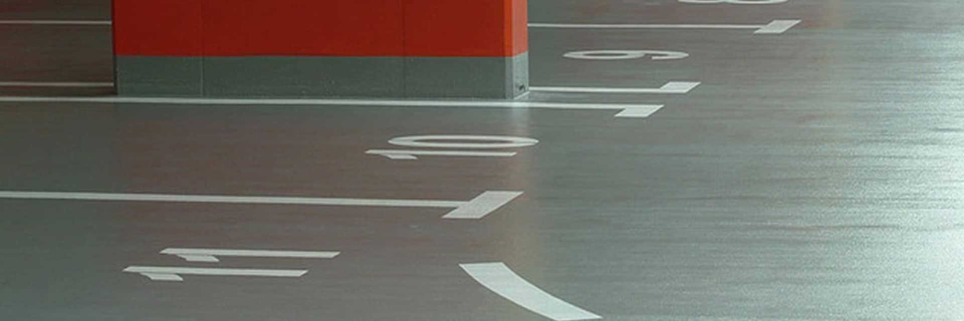 Parkeergaragevloer parkeervakken