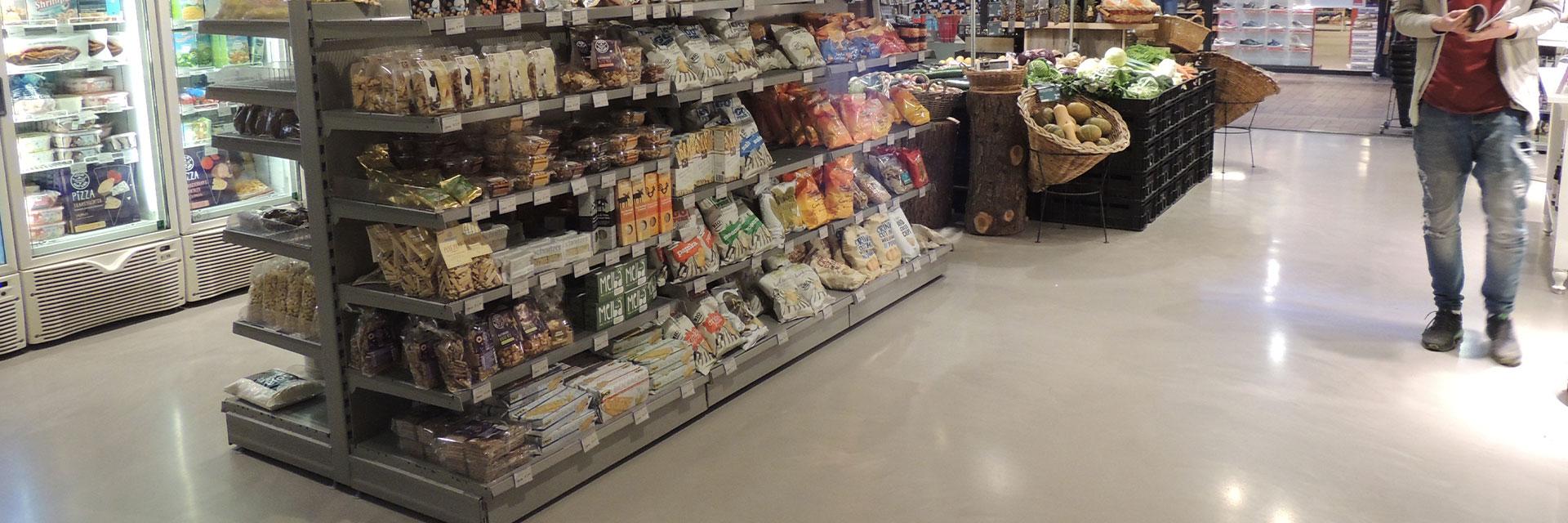 Supermarkt vloer